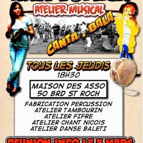 Atelier de musique: chaque jeudi à St-Roch àgratis!